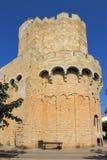 Церковь Saintes-Maries-de-la-mer, Франции стоковые изображения