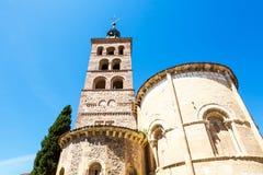 Церковь San Andreas в Сеговии, Испании Стоковое фото RF