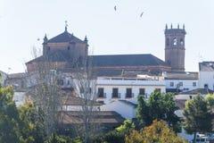 Церковь San Mateo, деревня encina Ла Baños de, провинция Jaen, Sp стоковое изображение rf