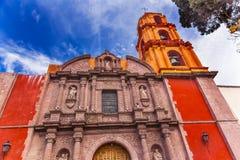 Церковь San Miguel Мигель de Альенде Мексика San Felipe Neri Стоковое Изображение