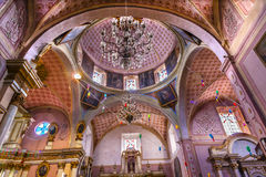 Церковь San Miguel de Альенде Мексика Templo San Felipe Neri Стоковые Фото