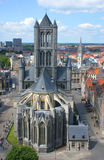 Церковь San Nicolas Гент Стоковые Изображения RF