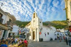 Церковь San Sebastian в Mijas Андалусия, Коста del Sol, Spai Стоковое Изображение