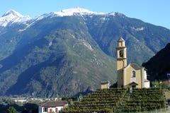 Церковь San Sebastian Artore на Bellinzona Стоковые Изображения