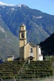 Церковь San Sebastian Artore на Bellinzona Стоковая Фотография