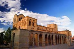 Церковь San Vicente в Авила Стоковое Изображение