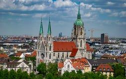 Церковь Sankt Пола в st-Pauls-Platz в Мюнхене, Баварии - 25,2018 -го апреле стоковые изображения