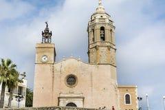 Церковь Sant Bartomeu & Santa Tecla Стоковые Фото