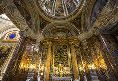 Церковь Sant Ignazio, Рим, Италия Стоковое фото RF