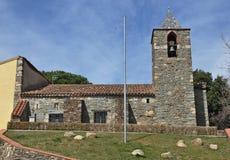 Церковь Sant Martà в Mosqueroles-Каталонии Стоковая Фотография RF