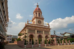 Церковь Santa Cruz (португальское наследие в Бангкоке) Стоковые Фото