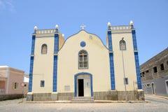 Церковь Santa Isabel, перспектива горжетки, Cabo Verde Стоковые Изображения RF