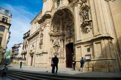 Церковь Santa Maria в San Sebastian, Испании Стоковая Фотография