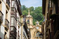 Церковь Santa Maria в San Sebastian, Испании Стоковая Фотография RF