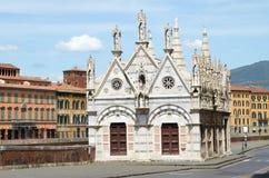 Церковь Santa Maria de Ла Spina Пиза Стоковая Фотография RF
