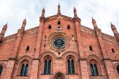 Церковь Santa Maria del Кармина в Павии, Италии Стоковые Изображения