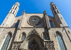 Церковь Santa Maria Del Mar в Барселоне Стоковое Изображение