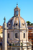 Церковь Santa Maria di Loreto в Риме Стоковое Изображение RF
