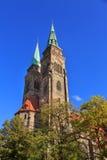 Церковь Sebaldus Святого в Нюрнберге Стоковое фото RF