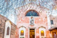 Церковь Sebastian Святого в Риме Стоковые Изображения