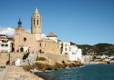Церковь Sitges Барселона стоковые изображения