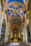 Церковь sopra Minerva Santa Maria в Риме, Италии Стоковое Изображение RF