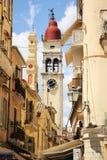 Церковь Spiridion Святого, городок Корфу, Греция Стоковое Изображение