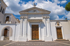 Церковь SS. Della Luce Марии. Mattinata. Апулия. Италия. Стоковое фото RF