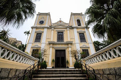 Церковь St. Лоренса (Igreja de S. Lourenco), Макао, Китай стоковые фотографии rf