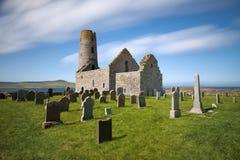 Церковь St Магнуса, Egilsay, оркнейские острова, Шотландия Стоковые Фото