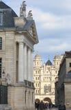 Церковь St-Мишель и герцогский дворец в Дижоне, Франции Стоковое Фото