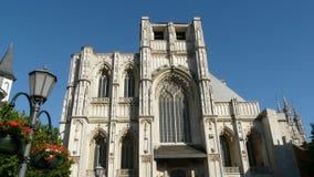 церковь St-Питера и ратуша лёвен Бельгия стоковые фотографии rf