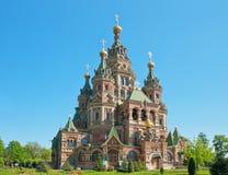 Церковь St. Питер и Паыля в Peterhof стоковые изображения
