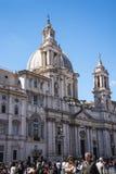 Церковь St Agnes в агонии на аркаде Navona в Риме Италии Стоковые Изображения RF