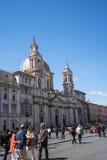 Церковь St Agnes в агонии на аркаде Navona в Риме Италии Стоковое Изображение RF