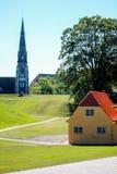 Церковь St Albans в Копенгаген стоковое фото