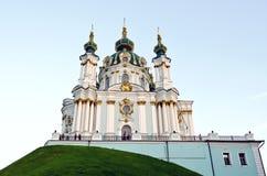 Церковь St Andrew в Kyiv Стоковые Изображения RF