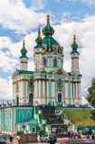 Церковь St Andrew, Киев Стоковая Фотография RF
