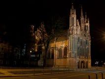 Церковь St. Anna в Вильнюс Стоковое фото RF