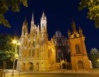 Церковь St Anne, Вильнюс, Литва стоковые изображения