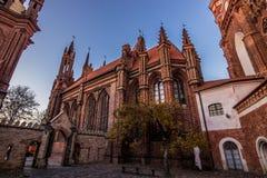 Церковь St Anne в Вильнюсе, Литве стоковая фотография rf