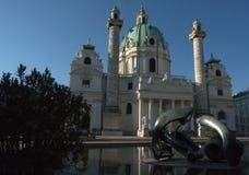Церковь St Charles, вена, Австрия стоковое изображение rf