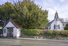 Церковь St Digain, Llangernyw, Уэльса Стоковые Фотографии RF
