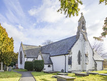 Церковь St Digain, Llangernyw, Уэльса Стоковое Изображение