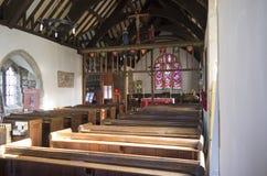 Церковь St Digain, Llangernyw, Уэльса Стоковые Изображения