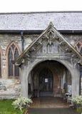 Церковь St Dyfnog, Llanrhaeadr, Уэльс Стоковая Фотография RF
