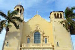 Церковь St Edward римско-католическая, Palm Beach, Флорида стоковая фотография rf
