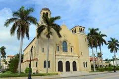 Церковь St Edward римско-католическая, Palm Beach, Флорида стоковые фотографии rf