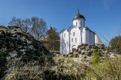Церковь St. George на крепости в Staraya Ladoga Россия Стоковое Изображение
