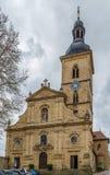 Церковь St Jakob, Бамберг, Германия стоковое изображение rf
